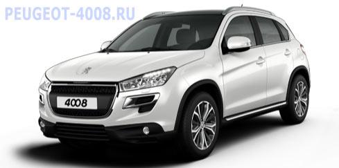 Peugeot 4008 Blank Antarctiq Белый